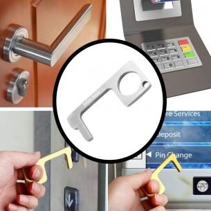 Berührungsloser Türöffner, tragbar, EDC-Türöffner, Werkzeug, hält Ihre Hände sauber, Mehrzweck mit Gravur