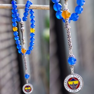 Agate Tesbih Misbaha with 925s Silver Tassel