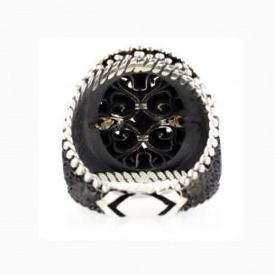 Black Onyx Stone Handmade 925 Sterling Silver Ring