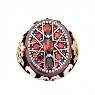 Red Stone Handmade 925...