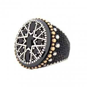 Black Stone Handmade 925...