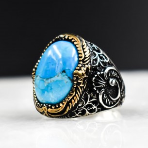 Turquoise 925s Silver Men's Ring