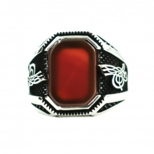 Agate Stone 925s Silver Ring