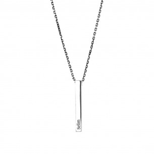Nested Name Necklace for Men in 925 Sterling Silver