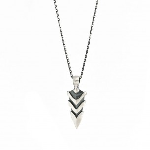 925 Sterling Silver Arrow Men Necklace