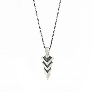 Erkek Ok Model Tasarım 925 Ayar Gümüş Kolye