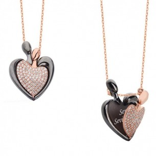 925s Sterling Silver Name Heart Necklace