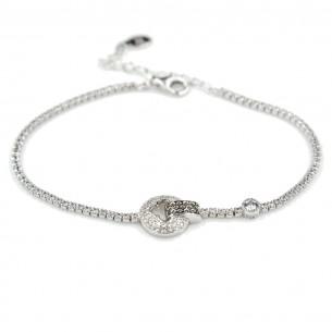 Armband aus 925 Sterling Silber mit Zirkonia