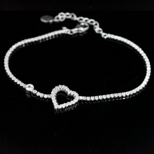 Herz Armband aus 925s Sterling Silber