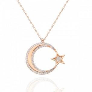 Ay Yıldız Silberhalskette