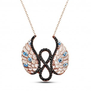 Angel Wings Infinity Silver Necklace