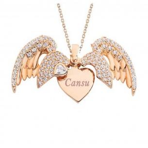 925er Silver Angel Name Halskette