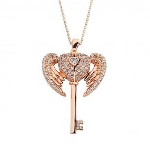 Silberne Namensschlüssel-Halskette
