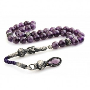 Amethyst Stone Tasbih with 1000k Sterling Silver