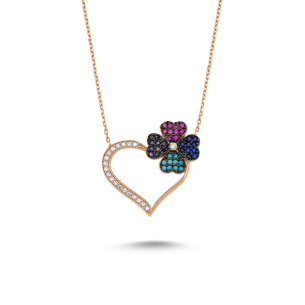 Clover Heart Necklace