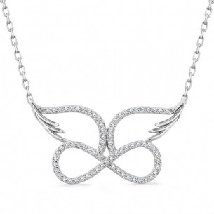 Angel Wing Infinity Necklace