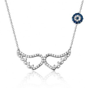 Angel Wing Silver Necklace