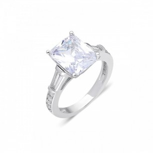 Solitaire 925s Silver Ring