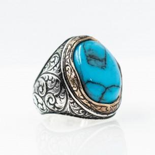 Turquaz Stone 925s Silver Men's Ring