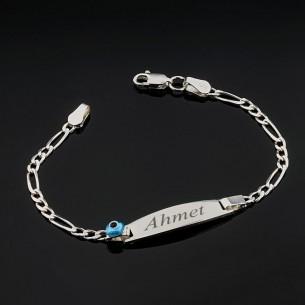 Baby Name Bracelet in Sterling Silver