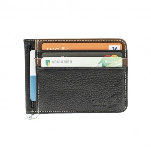 Black Blue Real Leather Wallet