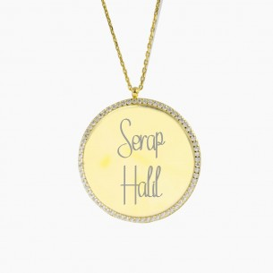 Engraved Name Necklace with...