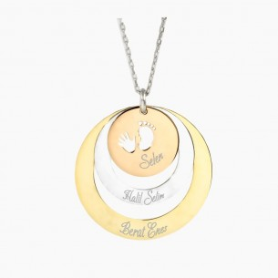 We and Our Baby Circle Personalized 925s Silver Necklace