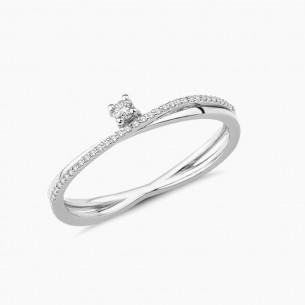 0.10ct. Diamond Ring White...