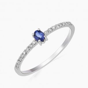 0.27ct. Diamond Sapphire...
