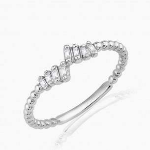 0.16 Diamond Ring 8ct White Gold