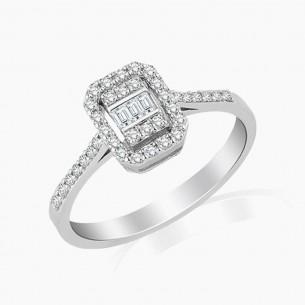 0.20 Diamond Ring 8ct White Gold