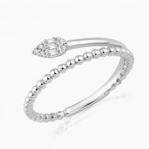 0.08ct. Diamond Ring White...