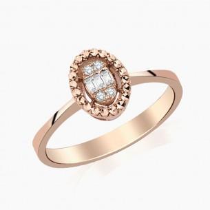 0.08 Diamond Ring 8ct Rose Gold