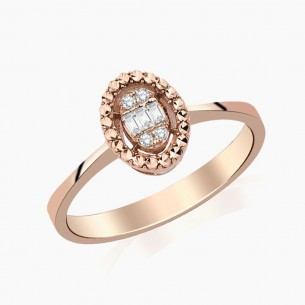 0.08 Diamond Ring 8ct Rose...