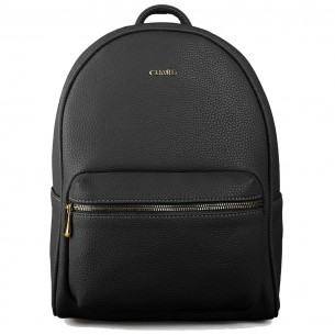 Vegan Leather Backpack in Black