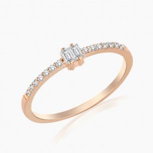 0.17 Diamond Ring 18ct Rose...