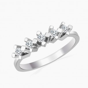 0.20ct. Diamond Ring 14ct White Gold