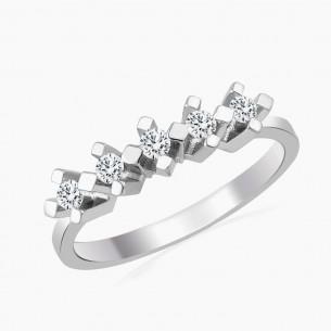 Ring aus 585er Weißgold mit 0.20  ct.
