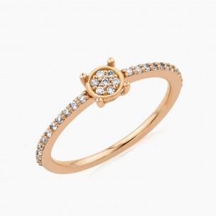 0.25ct. Diamond Ring 18ct Rose Gold