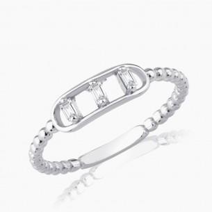 0.09ct. Diamond Ring White...