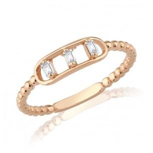 Ring aus 750er Rosegold mit 0.09 ct.