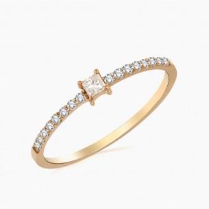 0.19ct. Diamond Ring 18ct Rose Gold