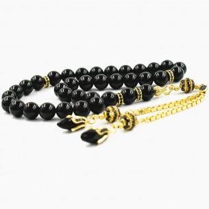 Onyx Tesbih Gebetskette mit 925er Silber