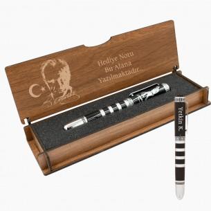 Atatürk Kugelschreiber Schreibset Gravur in Geschenkbox