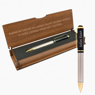 Personalised Pen in Personalized Wooden Case Set