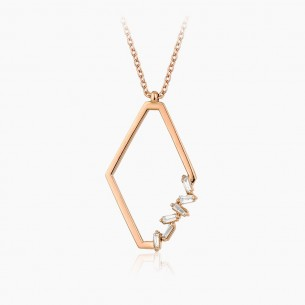 18K Rose Gold & 0.13 ct Diamond Necklace