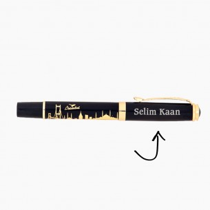 İstanbul Kugelschreiber Schreibset Gravur