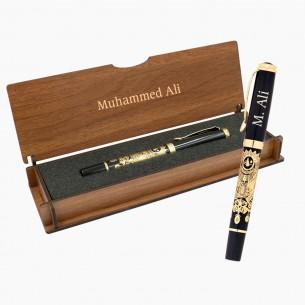 Kugelschreiber Schreibset Gravur in Geschenkbox mit Osmanische Tugra