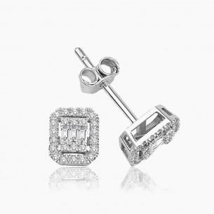 333er Weißgold-Ohrstecker 0.30 ct. Diamant