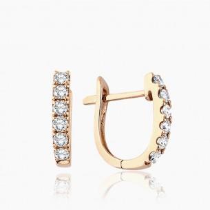 750er Rosegold-Ohrstecker 0.22 ct. Diamant